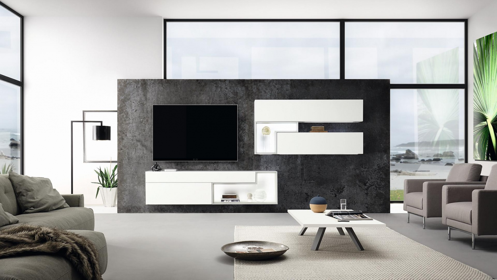 Ob vac pokoje home style - Wohnwand modern hulsta ...